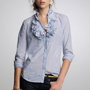 J. Crew | Ruffled Button Down Top